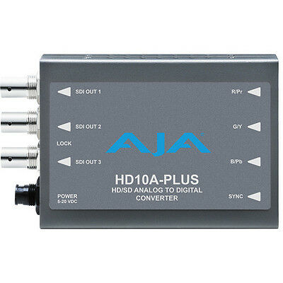 New Aja Hd10A-Plus Hd10A Plus Analog To Hd/sd Hd / Sd Sdi Mini-Converter