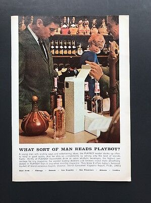 What Sort Of Man Reads Playboy?   1966 Vintage Ad   Buys Wine Liquor 1960s