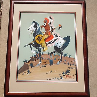 David Williams Original Painting/ 1933-1985      Kiowa-Apache