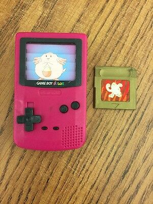 Burger King Fast Food Happy Meal Toy Gameboy Color Pokemon Pink