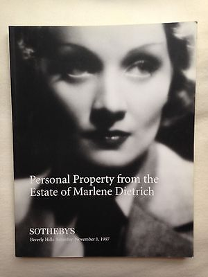 Sotheby's Personal Property from the Estate of Marlene Dietrich, 11/1/97 Catalog