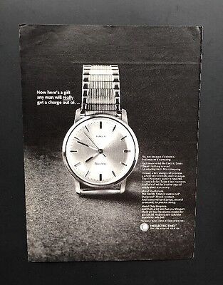 Electric Timex | 1966 Vintage Ad | 1960s Time Watch Classic Design