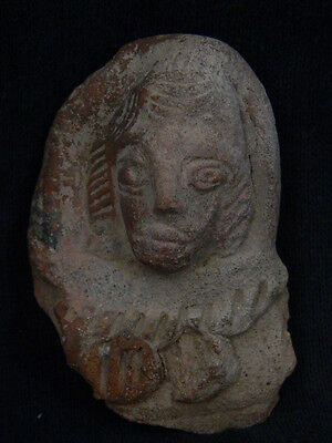 Ancient Bactrian C.300 BC Teracotta Head  ###TR506###