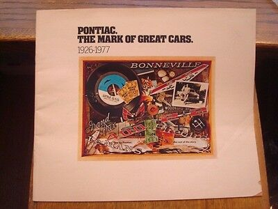 "1977, Dealer Brochure, ""PONTIAC"", Grand Prix/GTO/Fire Bird, 38 pages      (TT)"