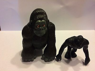 2- Gorilla Ape Toy Figure