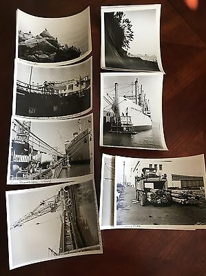 Black & White San Francisco Wharf Photos 1950s