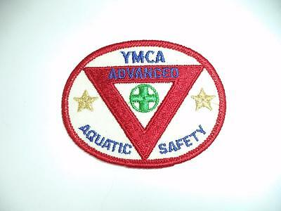 Vintage YMCA  Advanced Aquatic Safety Sew on Patch Embroidered