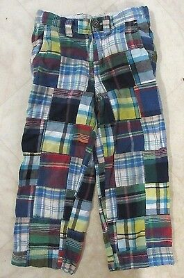Baby Gap Boy's Madras Patchwork Plaid Pants Size 4T
