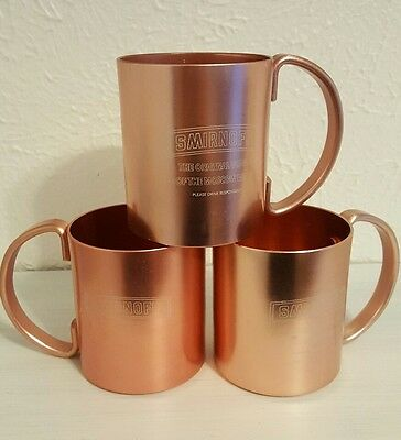 4 Vintage Smirnoff Vodka Moscow Mule Mugs Copper Anodized Aluminum ROSE GOLD