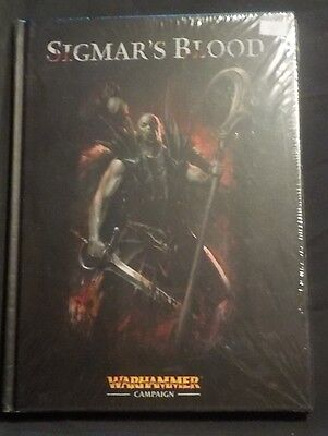 """Warhammer Campaign: Sigmar's Blood""  Fantasy hardcover rule book OoP"