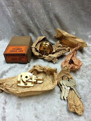 Vintage Bronze Sargent Mortise Cylinder Lock Set W/ Hardware/3 Keys In Box