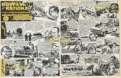 1971 Car Craft Magazine Cartoon Article Ad 1964 Dodge Ramchargers Color Me Gone