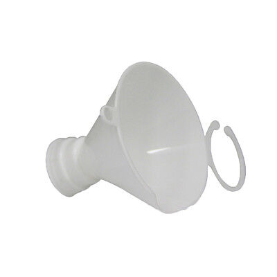 Screw on funnel to prevent spilling chemicals and other liquids when filling