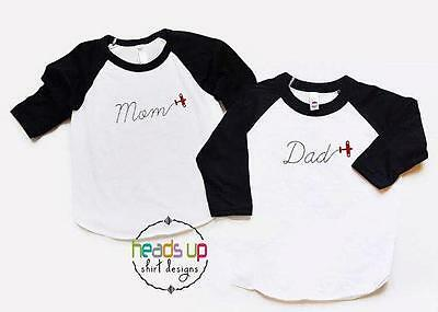 Airplane Shirts Adult Mom Dad Birthday Party tshirt Raglan Mother's/Father's Day