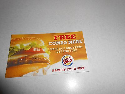 Burger King Meal Card