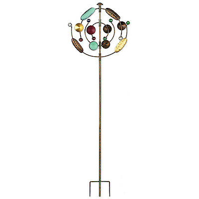 Cosmic Dance Wind Spinner 55in Garden Yard Stake Out Door Lawn Decor Sculpture