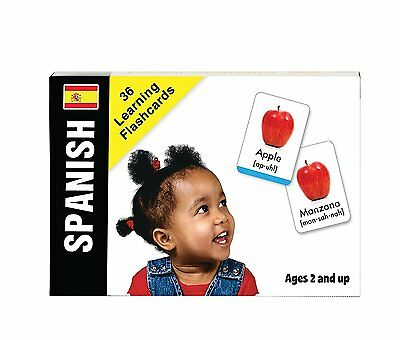 Bilingual Baby Spanish Learn Spanish Flash Cards Set for Babies and Toddler by