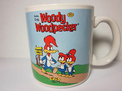 "Woody Woodpecker 3.5"" Ceramic Mug 1983 Three Cheers Applause Vintage Cup Lantz"