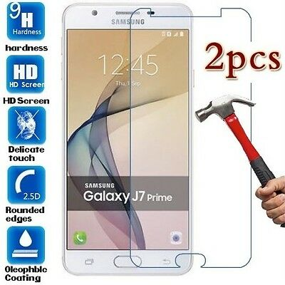 2x Samsung Galaxy J7 Prime Tempered Glass /Pet Screen Protector Film Guard