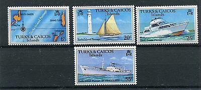turks and caicos 1978 battelli boats 391-94 MHN