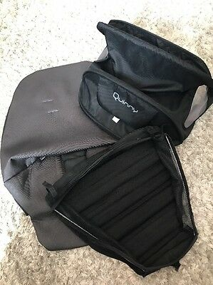 QUINNY BUZZ 3 or 4 SPARE SEAT COVER, HOOD, SHOPPING BASKET black