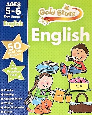 English KS1 children's book new ages 5-6 stickers key stage 1 Gold Stars