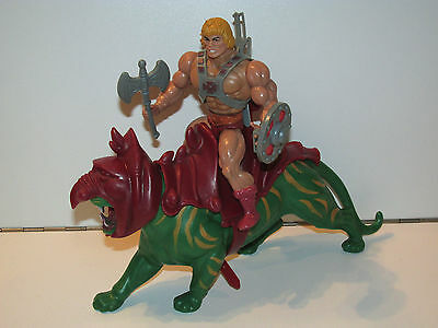 Motu He-Man Masters Of The Universe - Battle Cat & He-Man 100% Complete - Mattel