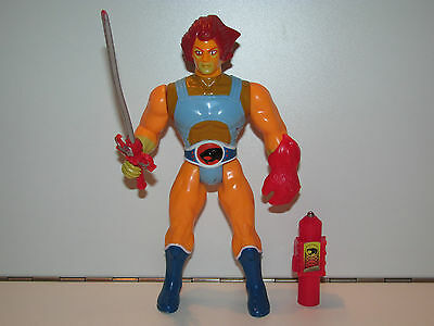 "VINTAGE LJN THUNDERCATS Action Figure ""LION-O"" BROWN HAIR 100% Complete C9"