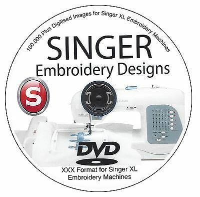 100,000 Plus SINGER XXX Format Embroidery File Digitised Design DVD USB or DD