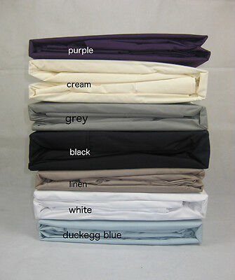 100% Cotton 250TC Thread Count Single King Double Queen Fitted SHEET+PILLOWCASES