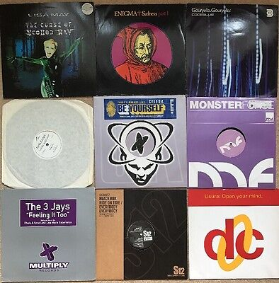 "90s & 2000's  house Trance Dance vinyl Joblot 9 x 12"" vinyl records"