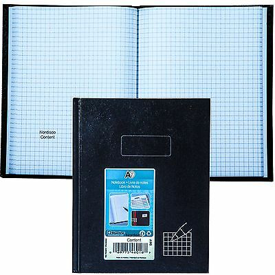 "Blueline A9Q Quad Ruled Hard Cover Notebook, 9-1/4 x 7-1/4"", 192 Pages"