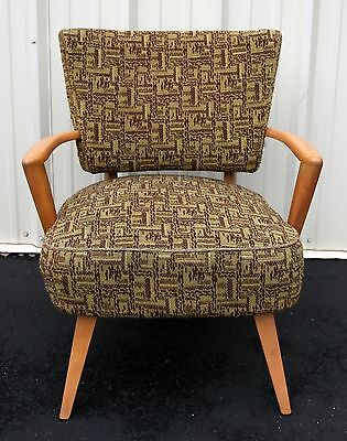 Rare HEYWOOD WAKEFIELD Blonde Pull Up Upholstered Armchair