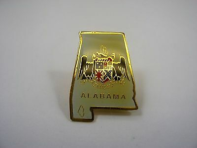 Vintage Collectible Pin: Alabama State Seal & Outline