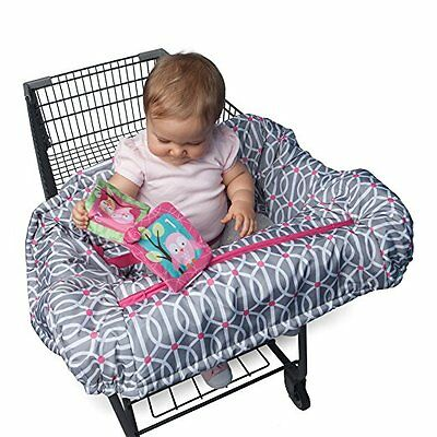 Grocery Cart Cover For Baby High Chair Infant Toddler Safety Girls Play Pink