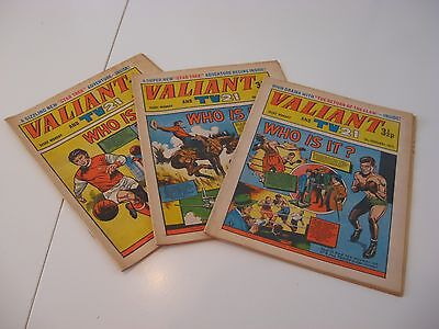Selection of Valiant and TV Comics