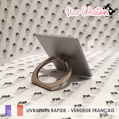 Anneau Bague Argent - Android Iphone Tablette Universel Neuf