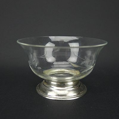 Vintage JWW Sterling Silver Base and Glass Bowl