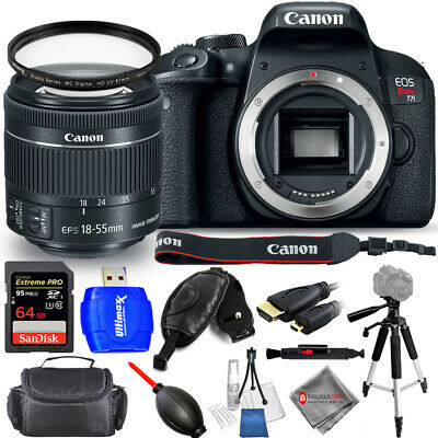 Canon EOS Rebel T7i DSLR Camera with 18-55mm Lens - USA Model Pro Bundle New!
