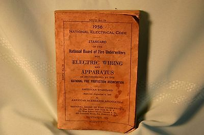 National Electrical Code NEC 1956 NBFU #70 Electric Wiring & Apparatus Vintage