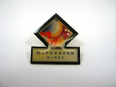 Vintage Collectible Pin: McPherson Wines Logo Advertising