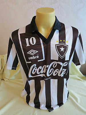 Botafogo Football Shirt Home 1990 1991 Player Issue maybe worn match L RARE 10