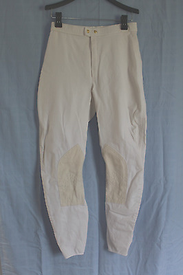 Unbranded Men's White Knee Patch Show Breeches Size 28R