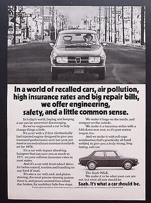 1968 Vintage Print Ad | SAAB | 1960s Car Automobile