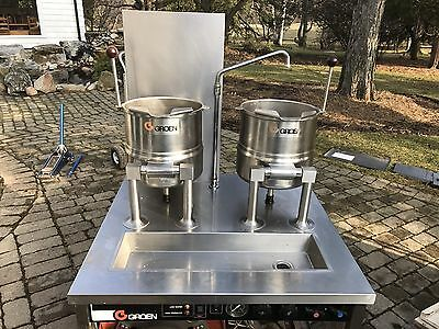 groen double steam jacketed kettle