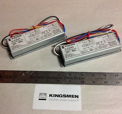 TWO (2) Sunpark Electronic Ballasts SL218HPF for: (2) F17T8 or (2) CFM18W