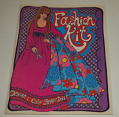 Vintage 1972 FASHION KIT Design & Color Mod Paper Dolls