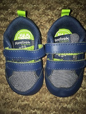 BNWT Baby Boys REEBOK trainers Soft Pram Shoes Uk Size 1.5