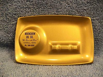 Pure Oil Company Ash Tray With Muenchow Correll Minn. Advertising