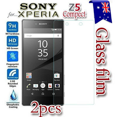 2X Sony Xperia  Z5 Compact X Tempered Glass LCD Screen Protector Film Guard